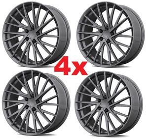 17 Gunmetal Anthracite Wheels Rims Gray Grey