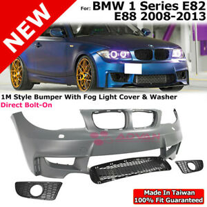 1m Style Front Bumper Fog Light Cover For 08 13 Bmw 1 Series E82 E88 128i 135i