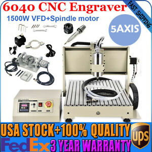 5 Axis 6040 Cnc Engraving Usb Engraver Metal Woodwork Milling Machine 1 5kw Vfd