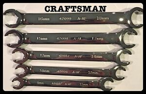 Craftsman Metric Flare Nut Wrench Set