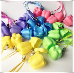 200pc Dental Milk Teeth Holder Box Necklace Tooth Shape Baby Kid Toy Clinic Gift