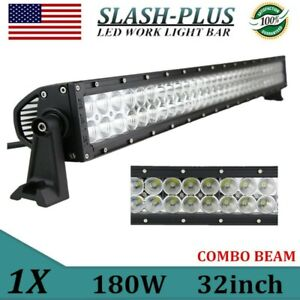 7d Tri Row 32 Inch 405w Slim Led Light Bar Spot Flood Combo Boat Truck 4wd Suv