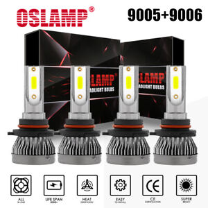 Combo 9005 9006 Led Headlight Hi Low Beam Bulbs Kits Fog Light 6000k White Hid