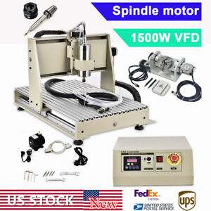 1 5kw 5 Axis 6040 Cnc Router Engraver Engraving Machine 3d Cutting Spindle Motor