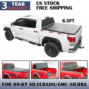 Tri Fold Solid Hard Tonneau Cover Fits 1999 2000 Gmc Sierra 6 5ft 78in Bed
