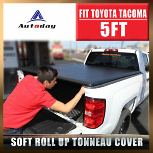 Fit 2016 2019 Toyota Truck Bed Tacoma Tonneau Cover 5 59 7 60 5 Soft Roll Up