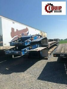 2000 Fontaine 51 Tri axle Trailer 50 Ton Lowboy Equipment Rgn Flatbed