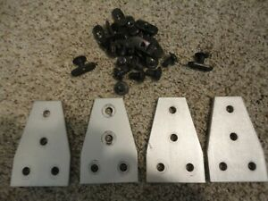 Aluminum 4 Hole t Joining Plate 10 Series Set Of 4 With Screw T nut Used