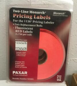 Two line Monarch Pricing Labels For 1136 Pricing Labeler 1750 Per Roll New