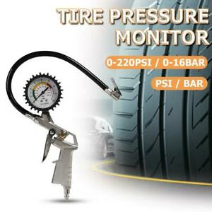 Car Tire Pressure Gauge Pointer Tyre Air Pressure Inflator Gauge Meter Psi