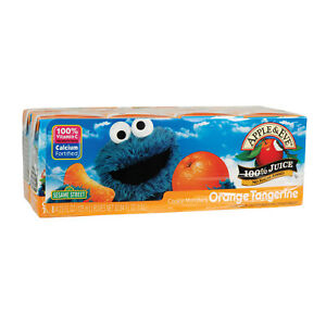 Apple And Eve Sesame Street Juice Orange Tangerine 5 Pack 125 Ml