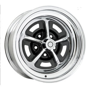 Wheel Vintiques 54 Series Magnum 500 Rim 15x7 5x4 25 Chrome semi Blk qty Of 4