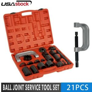 21pc Ball Joint Auto Repair Remove Installing Master Adapter C Frame Press 2