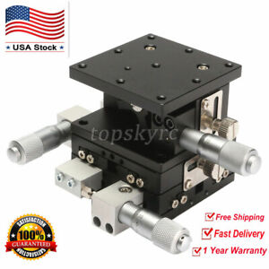 Xyz 3 Axis Linear Stage Trimming Platform Bearing Tuning Sliding Table Usa Ship