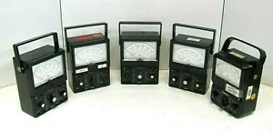 Lot Of 5 Simpson 260 Analog Volt Ohm Multi Meter As Is Free Shipping