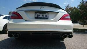 Universal Oval Amg Style Polished Exhaust Tips Upgrade Set Left Right