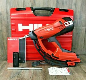 Hilti Gx 120 complete Nail Gun Kit Track Drywall Gas Actuated Tool Fastening 3