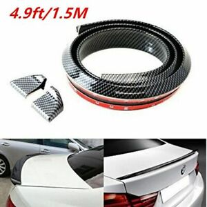 4 9ft 3d Carbon Fiber Universal Car Rear Wing Lip Spoiler Tail Trunk Roof Trim