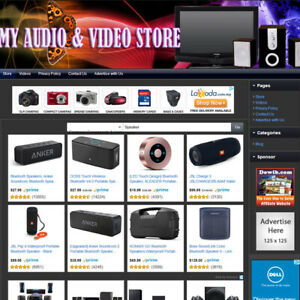 Audio Video Store Easy to operate Highly Profitable Website Business For Sale
