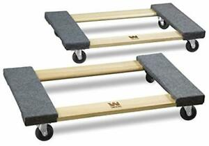 Hardwood Dolly Furniture Mover 1000 Pound Capacity Transport Equipment 2 Pack