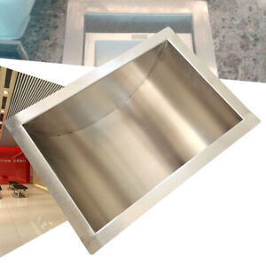 Coin Banknote Counter Tray Window 25 20cm Stainless Steel Cash Money Storage Us