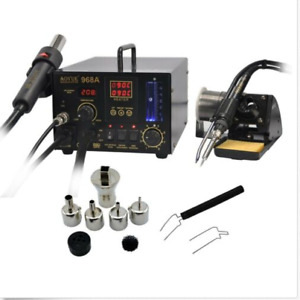Aoyue 968a Smd smt Hot Air 3 In1 Repair Rework Station 220v 200 480 c