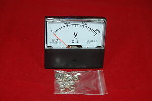 Ac 0 600v Analog Voltmeter Analogue Voltage Panel Meter 60 70mm Directly Connect