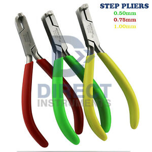 Dental Step Pliers Orthodontic Detailing Arch wire Bending Forming 0 50 0 75 1mm