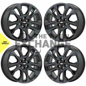20 Chevrolet Traverse Black Chrome Wheels Rims Factory Oem 2018 2020 Set 4 5848