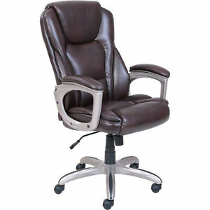 Serta Big And Tall Commercial Office Chair With Memory Foam Brown Up To 350lbs