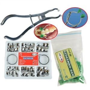 Dental Sectional Contoured Matrices Matrix Ring Delta Add on Wedges Plier