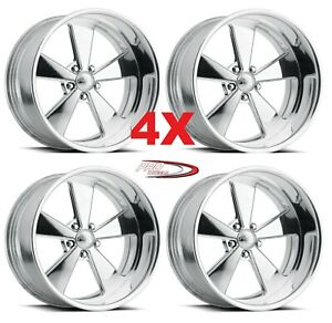 22 Pro Wheels Rims Muscle Forged Billet Polished Aluminum Us Specialties Line