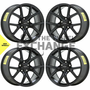 20x10 Jeep Grand Cherokee Trackhawk Srt Black Wheels Rims Factory Oem Set 4 9173