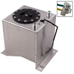 Aluminum Racing Drift Fuel Cell Tank 9 5 Liter Level Sender 2 5 Gallon Sliver
