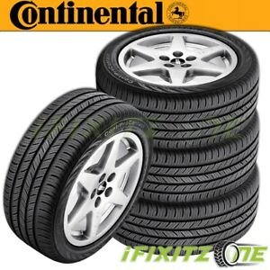 4 Continental Contiprocontact P225 50r17 93h All Season Grand Touring A S Tires