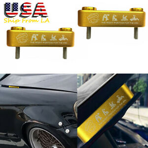 Password Jdm Gold Billet Hood Vent Riser Spacer Kit For Honda Civic Accord S2000