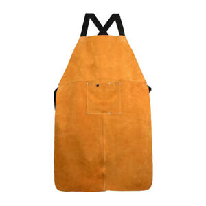 Carpenter Welder Blacksmith Heat resistant Welding Apron Bib Clothes Brown