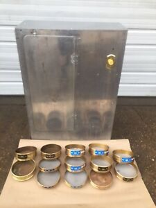Tyler Portable Sieve Shaker No 10425 With Lot Of 13 Sieves 40 400 Working Cond