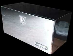 36 Black Tool Box With Stainless Steel Cover lid