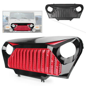 Car Front Bumper Hood Grille Grill For 1997 2005 2006 Jeep Wrangler Tj Red