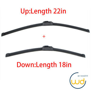 Windshield Wiper Blades J Hook High Quality Bracketless 22 18 Inch