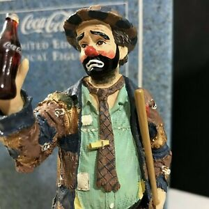 Emmett Kelly Coca Cola Limited Edition Musical Figurine 1995 Pause For A Coke