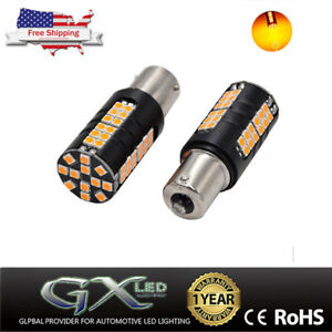 Us 2 No Error Yellow 1156 Ba15s 60smd 3030chips Led Bulbs For Turn Signal Light