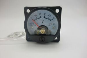 1pc Dc 0 50v Analog Voltmeter Analogue Voltage Panel Meter So45 Direct Connect