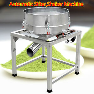 110v Stainless Steel Electric Powder Vibration Sieve Machine Screener Deck 300w