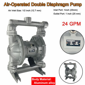 Air operated Double Diaphragm Pump 1 Inlet Outlet Petroleum Fluids 24gpm 115psi