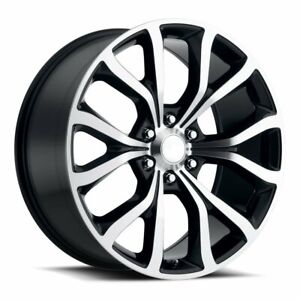 Factory Reproductions Fr52 Ford Expedition 22x9 5 6x135 Et44 Blk mach qty Of 4