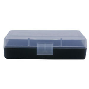 BERRY'S PLASTIC AMMO BOXES (5) CLEARBLACK 50 Round 9MM  380 - FREE SHIPPING
