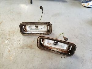 Pair Back Up Lights 1968 Buick Riviera In Rear Bumper Reverse Lamps