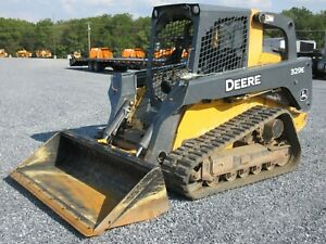 2014 John Deere 329e Tracked Skid Steer Loader Very Clean